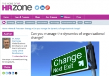 Media: HR Zone - Can you manage the dynamics of organizational change?